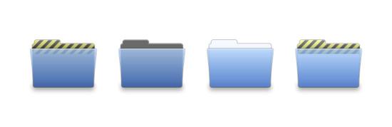 文件夹一图标专辑包括13 个高清PNG图标, ICO图标和ICNS图标:, 的AppleWorks文件夹, 直板夹, 清洁文件夹, 电驴文件夹, Final Cut Pro中的文件夹, GarageBand中的文件夹, 插图政务司司长文件夹, 政务司司长的InDesign文件夹, LimeWire文件夹, Photoshop CS中的文件夹 等图标.